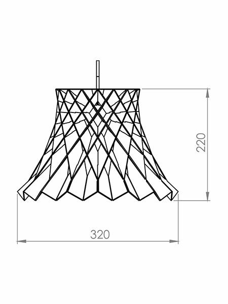 Desenho técnico - Pendente Trançado Romana | Classic Lar