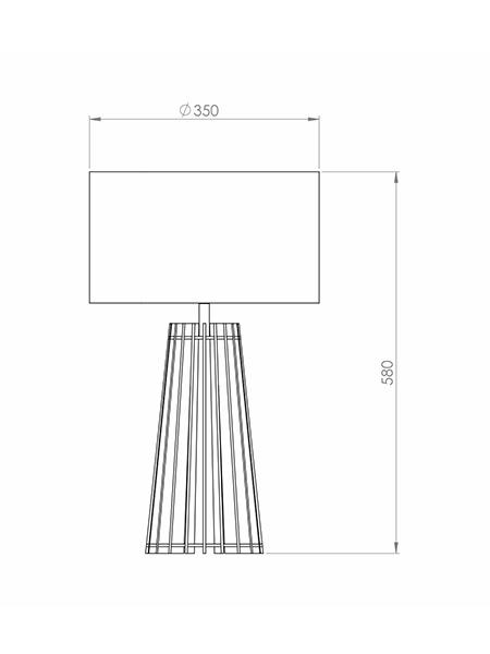 Desenho técnico - Abajur Ripado Spot | Classic Lar