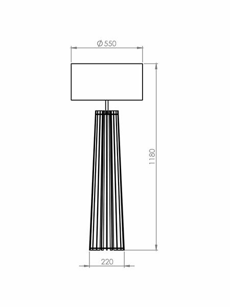 Desenho técnico - Meia Coluna Ripado Spot | Classic Lar
