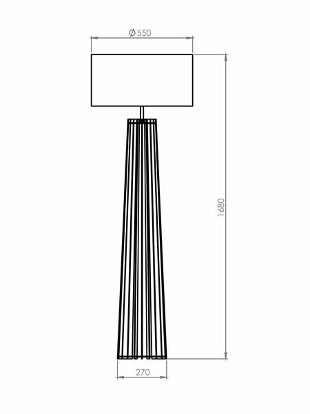 Desenho técnico - Coluna Ripado Spot | Classic Lar