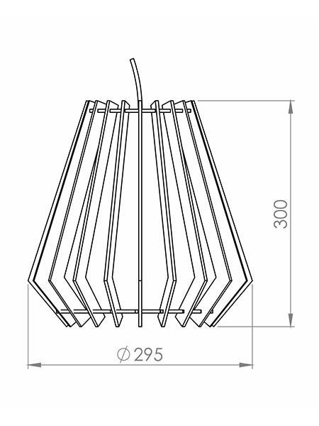Desenho técnico - Pendente Ripado Balão | Classic Lar