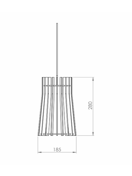 Desenho técnico - Pendente Ripado Castelo | Classic Lar