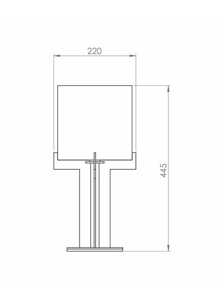 Desenho técnico - Abajur Minimalista Candelabro | Classic Lar
