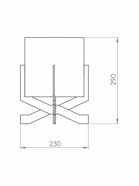 Desenho técnico - Abajur Minimalista Simples | Classic Lar