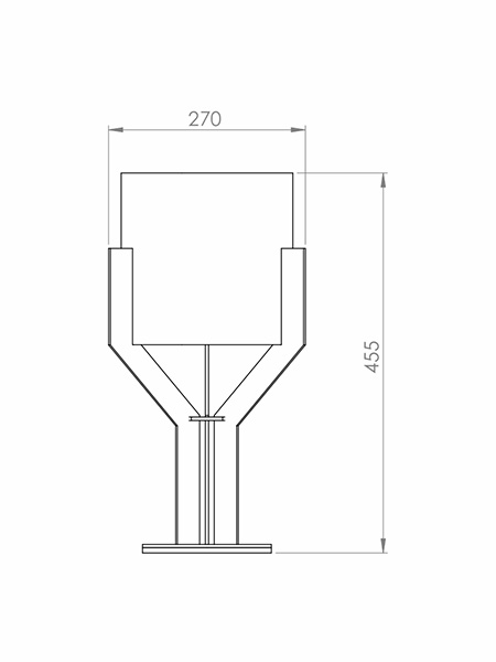 Desenho técnico - Abajur Minimalista Taça | Classic Lar