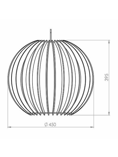 Desenho técnico - Pendente Ripado Esfera Grande | Classic Lar