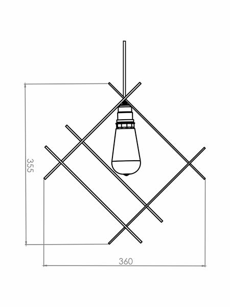 Desenho técnico - Pendente MOD | Classic Lar